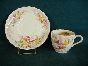 Copeland Spode Fairy Dell Demitasse Cup and Saucer Set