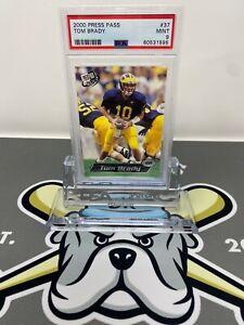 2000 Press Pass Tom Brady Rookie Card RC #37 PSA 9 MINT