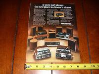 PANASONIC STEREO RADIO 8 TRACK TURN TABLE SPEAKERS - ORIGINAL 1972 AD