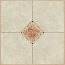 "Mintcraft 6777437 Case 45 Diamond Inlay 12"" X 12"" Vinyl Floor Tile Self Adhesive"