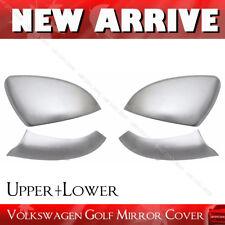 Chrome Aluminum Mirror Cover Cap for VW Golf MK7 VII GTI 2014-2017 Upper+Lower