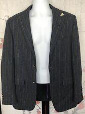 Paul Stuart Grau Gestreift Blazer Jacke Mantel Größe 48 Eu / US 38/M