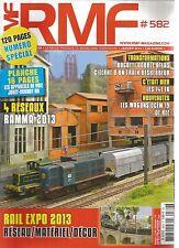 RMF N° 582 RESEAU : 04 RESEAUX RAMMA 2013 / WAGONS OCEM 19 / TRAIN DESHERBEUR