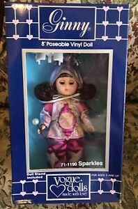 """Vogue Ginny Sparkles Doll With Marching Stick Original 8"""" Dressed Doll Stand New"""
