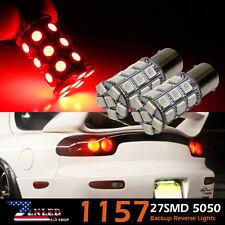 Pair Red 5050 1157 BAY15D 27 SMD Car Brake Stop LED Light Bulbs 2057 7528