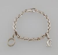 Cartier 18ct White Gold LOVE Chain Charm Bracelet
