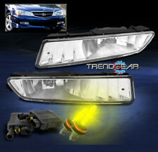 2002-2003 ACURA TL FRONT BUMPER DRIVING FOG LIGHTS LAMPS JDM CHROME W/3000K HID