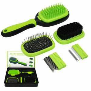 5 in 1 Pet Grooming Kit Detachable Dog & Cat Brush Set Hair Remover Comb Demat