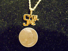 bling gold plated casino ego spoil me pendant charm rope chain hip hop necklace
