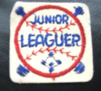 JUNIOR LEAGUER BASEBALL EMBROIDERED SEW ON ONLY PATCH BASEBALL