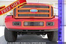 GTG 2005 - 2007 Ford F250 F350 F450 F550 7PC Polished Overlay Billet Grille Kit