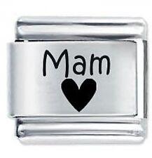 MAM HEART Family * Daisy Charms Fits Nomination Classic Italian Charm Bracelet