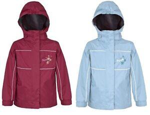 Trespass Motso Girls Kids Heavy Duty Waterproof Breathable Rain Jacket Coat
