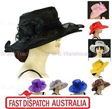 Spring Race Carnival Derby Day Church Wedding Women Ladies Organza Evening Hat