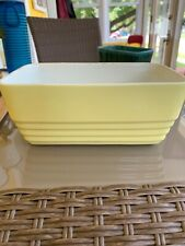 Vintage Hall Refridgerator Crock No Lid Yellow Made For Westinghouse