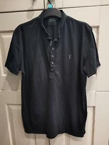 All Saints men's tshirt, black, Size medium. Fast Post!