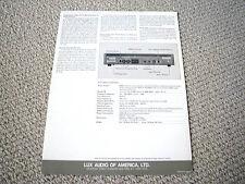 Luxman M-12 power amplifier brochure catalogue