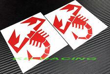 2 x Abarth Sticker Decals Fiat 500 Racing 595 595C 695 Biposto Free Shipping