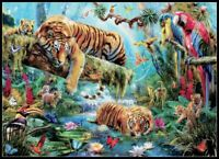Idyllic Tiger - Chart Counted Cross Stitch Pattern Needlework Xstitch craft DIY