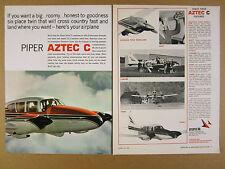 1967 Piper Aztec C airplane aircraft 6x photo vintage print Ad