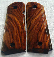 1911 FULL SIZE GRIPS COCOBOLO ROOT WOOD COLT, ED BROWN, Dan Wesson, Kimber X-68