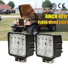 2X 48W Flood LED Off road Work Light Lamp 12V 24V Car Boat Truck Driving UTE