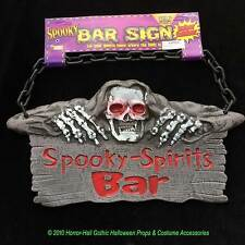 Skull Reaper SPOOKY SPIRITS BAR SIGN Drink Halloween Party Prop Decoration