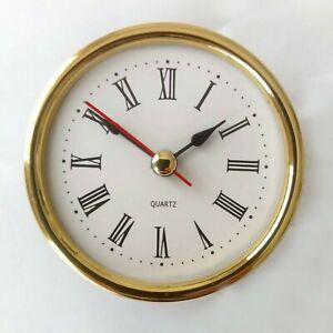 65mm Desk / Carriage Clock Mechanism Movement Roman Numerals Quartz DIY clocks