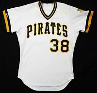 1989 Bob Patterson Pittsburgh Pirates Game Used Home Jersey MEARS COA A10