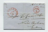 1851 New Orleans red CDS and steam 5 in circle stampless letter [5246.187]