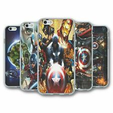 For iPhone 6 6S Silicone Case Cover Marvel Avengers Collection 1