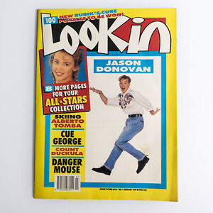 Look In Magazine 11 February 1989 Jason Donovan cover & centrefold