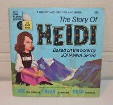 THE STORY OF HEIDI - Johanna Spyri 1968 Disneyland Record and Read Along Book -