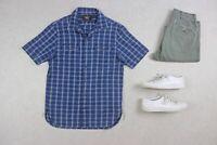RRL Ralph Lauren - Camp Collar Short Sleeve Shirt - Chambray Blue - Small