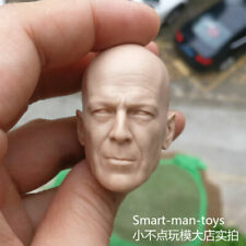 blank 1/6 scale Head Sculpt Die Hard Bruce Willis unpainted