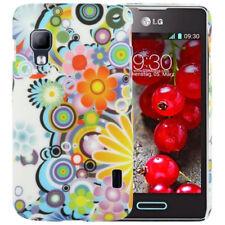 HardCase Schutzhülle für LG E455 Optimus L5 II Dual bunte Blumen Etui Case Hülle