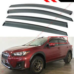 FOR 18-2021 SUBARU CROSSTREK SMOKE WINDOW VISOR RAIN GUARD VENT SHADE DEFLECTOR