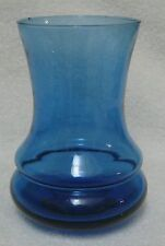Blue Glass Centerpiece Hurricane Style Candle Holder