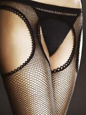 Collant ouvert sexy résille effet bas porte-jarretelle femme Fiore 05003 passion
