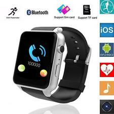 Waterproof GT88 NFC Bluetooth Smart Watch Phone Mate For IOS Android Silver