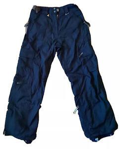 686 Enterprises Women's Snowboard Cargo Winter Ski Snow Pants Navy Blue Sz Small