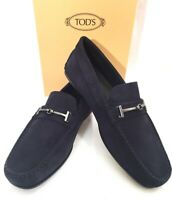"TOD'S ""FINE CITY"" Schuhe Mocassin Slipper Loafer Leder Leather blau blue NEU BOX"