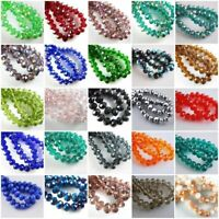 Lots Of 100pcs Faceted Glass Crystal Fingings Loose Bicone Spacer Beads 4mm Dr