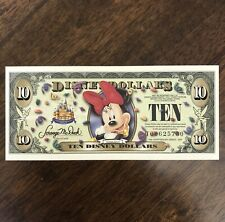 2005 $10 T series Disney Dollars Disney Store Minnie Mouse T00625730 Rare