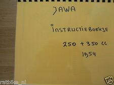 J0014 JAWA---INSTRUCTIE BOEKJE 250cc + 350cc----MODEL