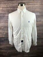 NWT Ralph Lauren Mens Classic Fit Long Sleeve Button Front Shirt Size Medium