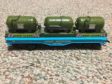 Ho Scale Custom Build Unique Flat Car Great Northern Loaded with 3 Generators