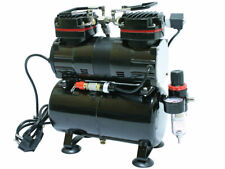 AIRBRUSH TWIN CYLINDER COMPRESSOR 190W 0-4 BAR MODEL AS196 WITH AIR TANK