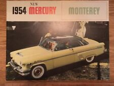 1954 MERCURY , MONTEREY, SUN VALLEY CANADIAN SALES BROCHURE