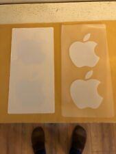 4 White Apple Logo Stickers Genuine Apple Stickers